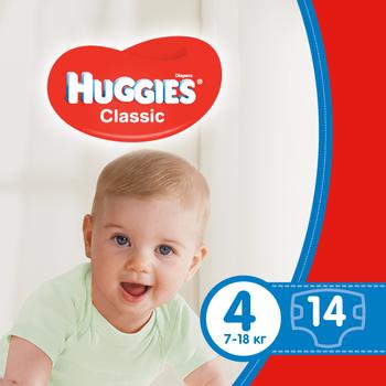 Подгузники Huggies Classic 4 (7-18 кг) 14 шт.
