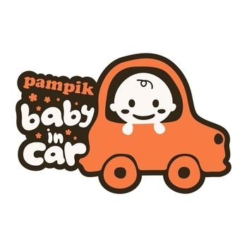 Купить Аксессуары для авто, Наклейка на авто Pampik Baby in car, pampik.com
