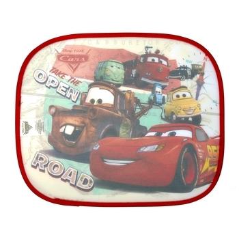 Купить Аксессуары для авто, Солнцезащитная шторка для авто Disney Тачки, красный, 2 шт. (WD11542)