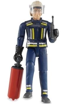 Купить со скидкой Фигурка пожарного Bruder, с аксессуарами, 11 см (60100)