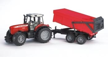 Трактор Bruder Massey Ferguson 7480, c прицепом (02045)