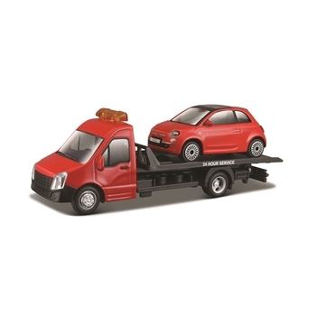 Игровой набор Bburago Автоперевозчик c автомоделью Fiat (18-31402)