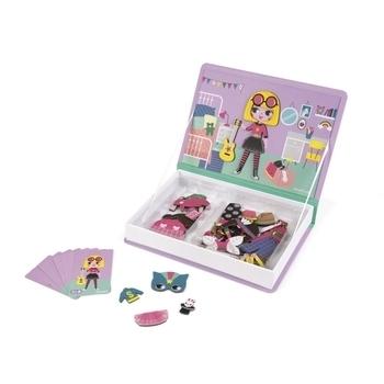 Купить Настольные игры и опыты, Магнитная книга Janod Наряды для девочки (J02718)