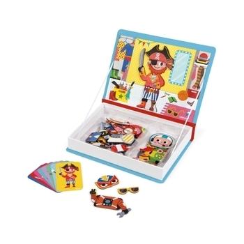 Купить Настольные игры и опыты, Магнитная книга Janod Наряды для мальчика (J02719)