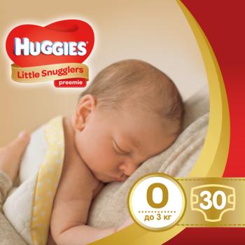 c4823249f15e Подгузники Huggies Little Snugglers 0 (до 3 кг), 30 шт.   Купить в ...