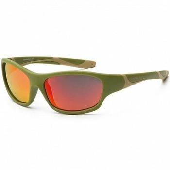 Купить Аксессуары к одежде, Детские солнцезащитные очки Koolsun Sport, 36М+, хаки (KS-SPOLBR003), Хаки