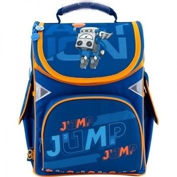 Купить Сумки для прогулок и путешествий, Рюкзак школьный каркасный Kite GoPack Робот-баскетболист, синий с оранжевым (GO18-5001S-13), Синий