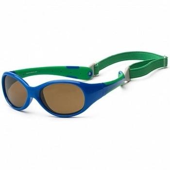 Купить Аксессуары к одежде, Детские солнцезащитные очки Koolsun Flex, 36М+, синий с зеленым (KS-FLRS003), Синий