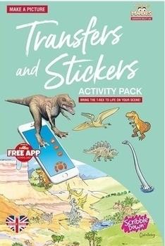 Купить Творчество и канцтовары, Переводные наклейки Scribble Down Динозавры, с онлайн-приложением (SD/22)