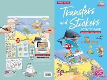 Купить Творчество и канцтовары, Переводные наклейки Scribble Down Остров пиратских сокровищ, с онлайн-приложением (SD/20)