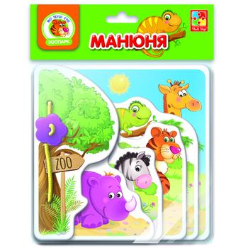 Купить Книги для самых маленьких, Книга для самых маленьких Vladi Toys Манюня. Зоопарк, укр. язык (VT2222-05)