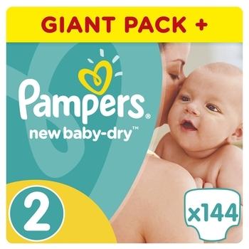 Подгузники Pampers New Baby-Dry Mini 2 (3-6 кг), 144 шт.   Купить в ... 27e532f57e8