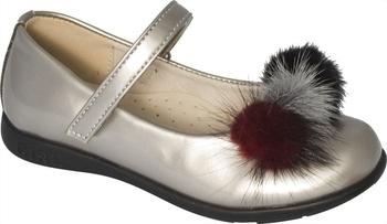 Купить Детская обувь, Туфли Arial, р.33, серебристый (5518-1651), Серебристый