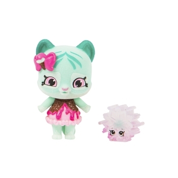 Купить Фигурки, куклы и игрушки-антистресс, Фигурка с подставкой Shopkins Shoppets S9 Wild style Мятные лапки (56962), Китай