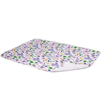 6ec9fd8dbf09 Многоразовая пеленка ЭКО ПУПС Eco Cotton Цветы, двусторонняя, 90х65 см,  фуксия (EPG10N