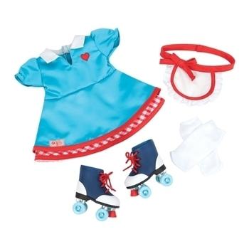 Купить Фигурки, куклы и игрушки-антистресс, Набор одежды для кукол Our Generation Платье с роликами (BD60013Z)