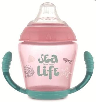 Купить Поильники и чашки непроливайки, Кружка-непроливайка Canpol babies Sea Life, с силиконовым носиком, 230 мл, розовый (56/501_pin), Польша, Розовый