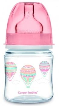Купить Бутылочки и соски, Антиколиковая бутылочка Canpol Babies Easystart In the Clouds, 120 мл, розовый (35/224_pin), Польша, Розовый