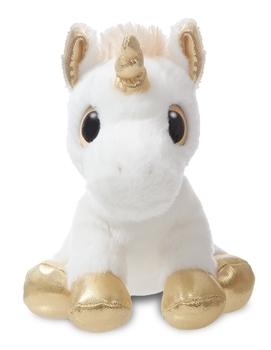 Купить Мягкие игрушки, Мягкая игрушка Aurora Единорог Gold Сияющие глазки, 20 см, золотой с белым (150710J), Индонезия