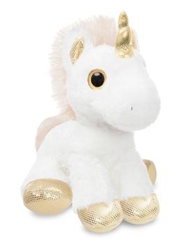 Купить Мягкие игрушки, Мягкая игрушка Aurora Единорог Gold Сияющие глазки, 30 см, золотой с белым (161257G), Индонезия