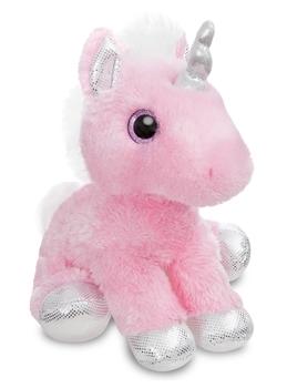 Купить Мягкие игрушки, Мягкая игрушка Aurora Единорог Pink Сияющие глазки, 30 см, розовый с серебристым (161257C), Индонезия