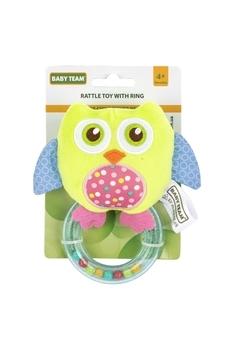 Купить Погремушки и прорезыватели, Погремушка с кольцом Baby Team Совушка, зеленый (8502), Зеленый