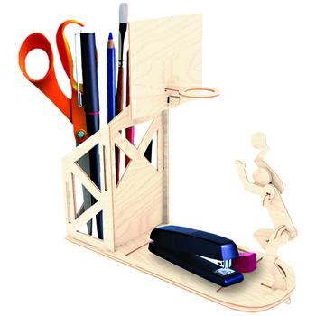Купить Пазлы, шнуровки и головоломки, Деревянный 3D пазл Мир деревянных игрушек Баскетболист (С004)