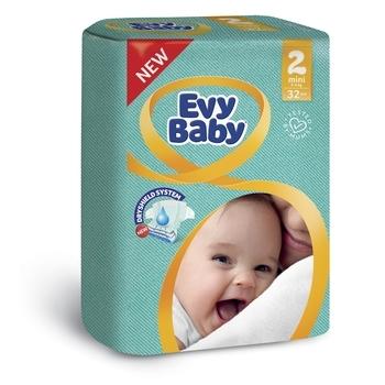Подгузники Evy Baby Mini 2 (3-6 кг), 32 шт.   Купить в интернет ... aac3ff5673e