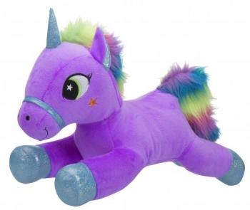 Купить Мягкие игрушки, Мягкая игрушка Toy World Единорог Лиловый с радужной гривой, 40 см (5237)