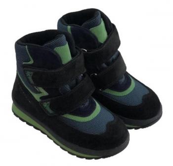Купить Детская обувь, Ботинки Minimen 21SALAT, р.22, черный с зеленым (794418656), Турция, Черный