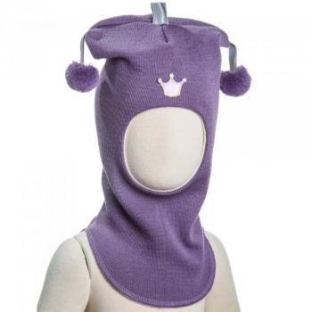 Купить Головные уборы, Шапка-шлем Kivat Джокер Корона, р.2, фиолетовый (491-21-2), Финляндия, Фиолетовый, Шерсть