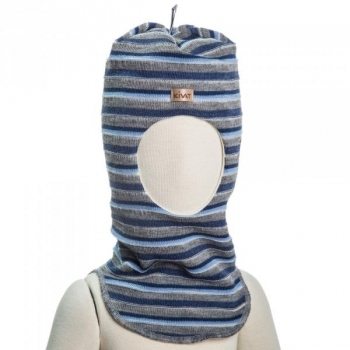 e3c4f09ad154b9 Шапка-шлем Kivat Полоска, р.2, серый с голубым (516-60-2) | Купить в ...