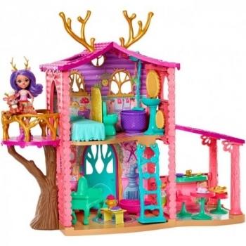 Купить Фигурки, куклы и игрушки-антистресс, Игровой набор Enchantimals Лесной домик Оленицы Денисы (FRH50)