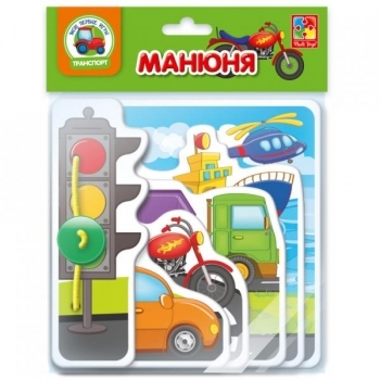 Купить Книги для самых маленьких, Книга для самых маленьких Vladi Toys Манюня. Транспорт (VT2222-03), Украина