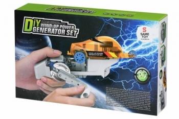 Купить Конструкторы и трансформеры, Робот-конструктор Same Toy Авто на динамо-машине (DIY006UT)