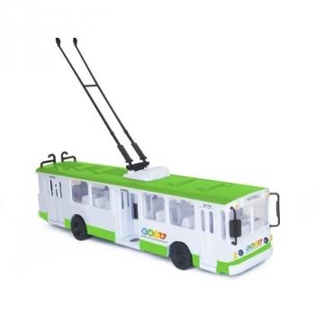 Купить со скидкой Модель Technopark Троллейбус Big Киев, со светом и звуком (SB-17-17WBK)