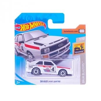 Купить Игрушечный транспорт, Базовая машинка Hot Wheels '84 Audi Sport Quattro, белый (5785)