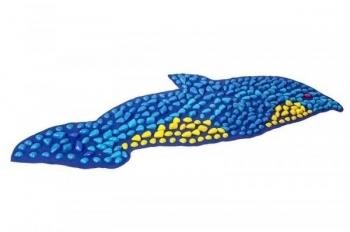 Купить Развивающие и игровые коврики, Массажный коврик OnhillSport Дельфин, 150х40 см, синий (MS-1216), Украина, Синий