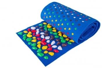 Купить Развивающие и игровые коврики, Массажный коврик OnhillSport Ортопед, 150х40 см, синий (MS-1214-1), Украина, Синий