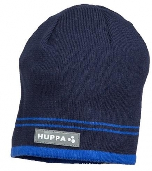 Купить Головные уборы, Вязаная шапка Huppa Tom Navy, хлопок, S, темно-синий (80120000-00086-00S), Эстония, Темно-синий, Хлопок