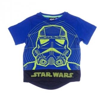 Купить Футболки, регланы и свитера, Футболка Sun City Disney Star Wars, р.140, синий (SE1059), Индия, Синий, Хлопок