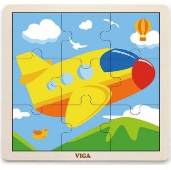 Купить Пазлы, шнуровки и головоломки, Пазл Viga Toys Самолет (51447), Китай