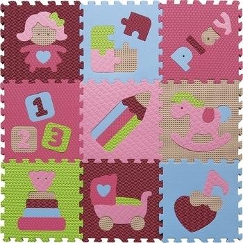 Купить со скидкой Игровой коврик-пазл Baby Great Интересные игрушки, 92х92 см (GB-M1707)