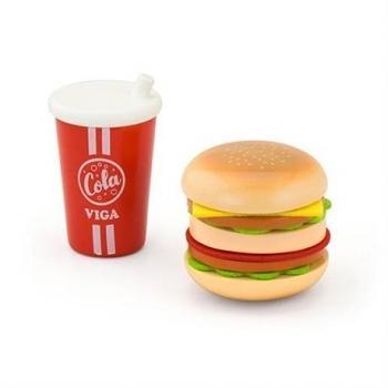 Купить со скидкой Игровой набор Viga Toys Гамбургер и кола (51602)