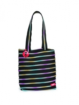 Сумка Zipit Premium Tote Black & Rainbow Teeth (ZBN-8)