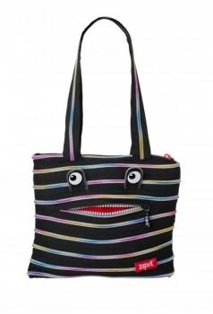 Сумка Zipit Monster Tote Black & Rainbow Teeth (ZBZM-1)
