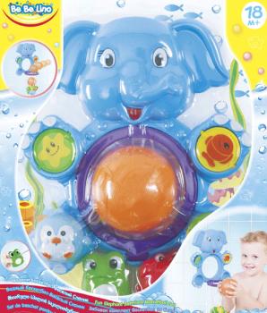 Купить Игрушки для купания, Игрушка для купания Bebelino Водный баскетбол Веселый Слоник (58111)