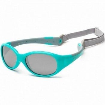 Купить Аксессуары к одежде, Детские солнцезащитные очки Koolsun Flex, 36М+, бирюзовый с серым (KS-FLAG003), Тайвань, Бирюзовый