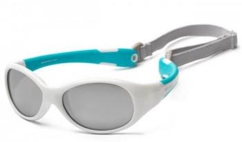 Купить Аксессуары к одежде, Детские солнцезащитные очки Koolsun Flex, 36М+, белый с бирюзовым (KS-FLWA003), Тайвань, Белый