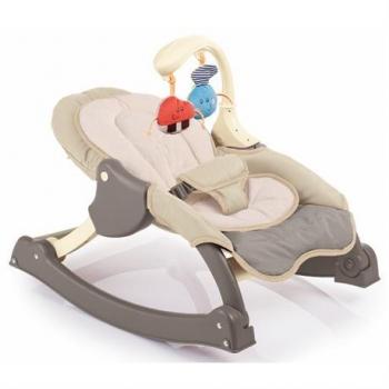 Купить со скидкой Кресло-качалка Weina MusiCozzi Joy, бежевый с коричневым (4011.101.01)
